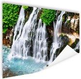 Watervallen in Azie  Poster 180x120 cm - Foto print op Poster (wanddecoratie woonkamer / slaapkamer) XXL / Groot formaat!