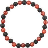 Carneool Rood Armband | Alshain | M - 19 cm