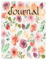 Floral Journal Oversized 8.5x11, 150 Page Lined Blank Journal Notebook