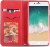Apple iPhone 6(S) Retro Portemonnee Hoesje Rood