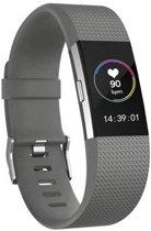 KELERINO. Siliconen polsbandje voor Fitbit Charge 2 Grijs - Small