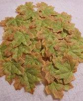 Herfstbladeren - Winterbladeren - Groen-Bruin -Set 100 stuks - 8 x 8 cm