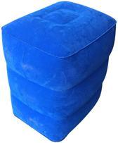 Voetkussen-Vliegtuigbedje-Blauw-3 Hoogstanden-Voetsteun-Autokussen-Reiskussen-Kinderbedje-Reisaccessoires-Opblaasbaar-Footrest-Airplane Cushion-Vliegtuigbed voor Kinderen-Opblaasbare Voetkussen-Hoofdkussen-Voetenbank-Opblaasbare Voetenbank