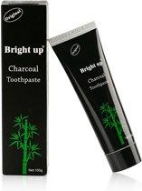 "Houtskool tandpasta voor witte tanden / Teeth Whitening Charcoal + ""Gratis Bamboo tandenborstel"""