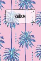 Gabon: Ruled Travel Diary Notebook or Journey Journal - Lined Trip Pocketbook for Men and Women with Lines