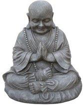 Boeddha Dikbuik Groot 51X38X53 Cm Licht Grijs Fiberclay STONE Lite