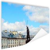 Standbeeld Warschau Poster 180x120 cm - Foto print op Poster (wanddecoratie woonkamer / slaapkamer) / Steden Poster XXL / Groot formaat!