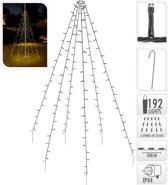 Vlaggenmast verlichting 192 LED's - 208 cm hoog - warm wit licht - waterdicht