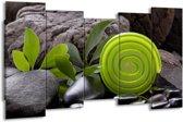Canvas schilderij Spa | Groen, Zwart | 150x80cm 5Luik