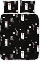 Romanette Rubella dekbedovertrek - Zwart - eenpersoons (140x200/220 cm + 1 sloop)