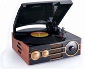 Bigben TD101 Big 3 Speeds Wood platenspeler - AM/FM - Hout