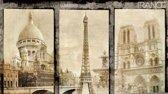 Fotobehang Parijs | Sepia | 312x219cm