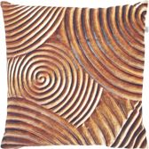 Dutch Decor Sierkussen Twirl 45x45 Cm Koper