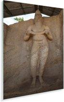 Standbeeld koning Parakramabahu in Polonnaruwa Sri Lanka Plexiglas 20x30 cm - klein - Foto print op Glas (Plexiglas wanddecoratie)