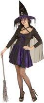 Blauwzwart heksen Halloween kostuum voor dames - Verkleedkleding - Large