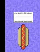 Composition Notebook College Ruled 8.5 X 11 55 Sheets 110 Pages