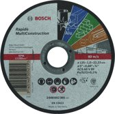 Bosch - Doorslijpschijf recht Rapido Multi Construction ACS 60 V BF, 125 mm, 22,23 mm, 1,0 mm