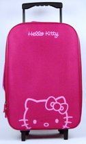 Hello Kitty trolley - Roze-Paars - Soft case - 48x33x13cm