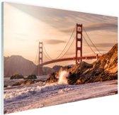 Golden Gate Bridge Glas 60x40 cm - Foto print op Glas (Plexiglas wanddecoratie)