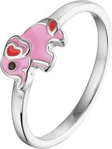 The Kids Jewelry Collection Ring Olifant - Zilver