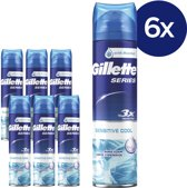 Gillette Series Sensitive Cool Scheerschuim - 6x250 ml - Voordeelverpakking