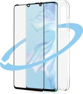 Azuri Front&Back protection pack - curved black frame - for Huawei P30 Pro
