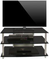 TV HIFI meubel kast Sindas zwart glas