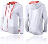 Boxeur des Rues Sweatshirt with Thumb Openings - White Orange-S