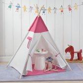 Wigwam tent - speeltent voor kinderen - Pink en wit