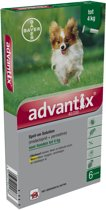Advantix - Spot On 40/200 - Anti vlooienmiddel en tekenmiddel Hond - 6 pipetten