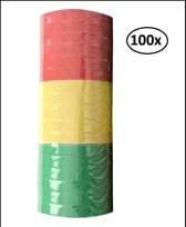 100x Serpentines rollen rood/geel/groen