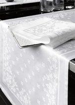 De Witte Lietaer Lilium Tafelkleed 160 x 360 cm - damast katoen/wit