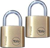 Yale Cilinderhangslot messing 20mm - 2 stuks