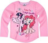 My Little Pony T-shirt-met-lange-mouw-fuchsia - Maat 110