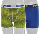 Puma Nevertame - Sportonderbroek - Kinderen - Maat 128 - Blauw/ Geel/ Wit