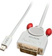 Lindy 41956 kabeladapter/verloopstukje Display port DVI-D Wit