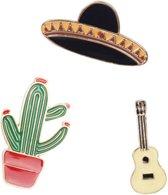 Kledingspelden set| Decoratie | kledingsierraad | Speld | Pin | Mexico