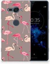 Sony Xperia XZ2 Compact Uniek TPU Hoesje Flamingo