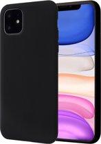 iPhone 11 Hoesje - Liquid Soft Siliconen Case - iCall - Zwart