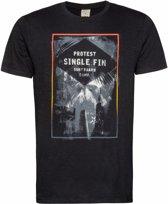 Protest INSET T-Shirt Men - True Black - Maat XXL