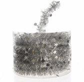Kerstboom folie slinger zilver 700 cm - sterren kerstslingers