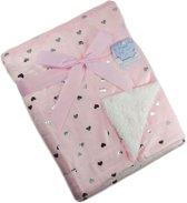 Baby Deken|kleur rose Mt 75x100 cm