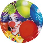 24 stuks: Set a 6 Bordjes - Clown - 23cm