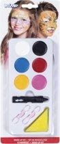 Kit make-up Jongen/Meisje (make-up, 1 spons en 2 penselen)