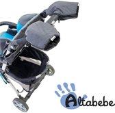 Altabebe Alpin handwarmers - Set van 2 handenwarmers - Handschoenen voor kinderwagen & buggy - Grijs/zwart