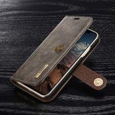 Hoesje voor Apple IPhone X en iPhone XS, DG.Ming 2-in-1 wallet case, grijs
