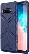 Teleplus Samsung Galaxy S10 Plus Case Defense Impact Protected Tank Navy Blue hoesje