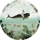Pimpelmees muursticker Walvis Zeedieren - kinderkamer - babykamer - 120 cm