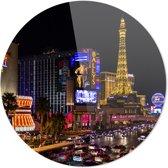 Las Vegas | Steden | Rond Plexiglas | Wanddecoratie | 90CM x 90CM | Schilderij | Foto op plexiglas