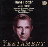 Hans Hotter - Lieder Recital: Schubert, Schumann et al